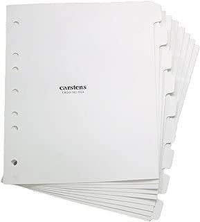 White Blank Polyethylene Divider Set - 9 Tab