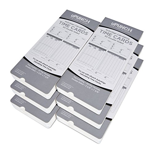 300 uPunch Time Cards for HN4000 AutoAlign Calculating Time Clocks