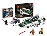 Lego 75248 Star Wars Widerstands A-Wing Starfighter, Bauset, Mehrfarbig + Lego Star Wars 75224 Sith Infiltrator Microfighter