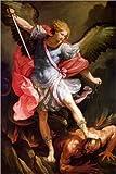 Poster 20 x 30 cm: Erzengel Michael besiegt Satan von Guido