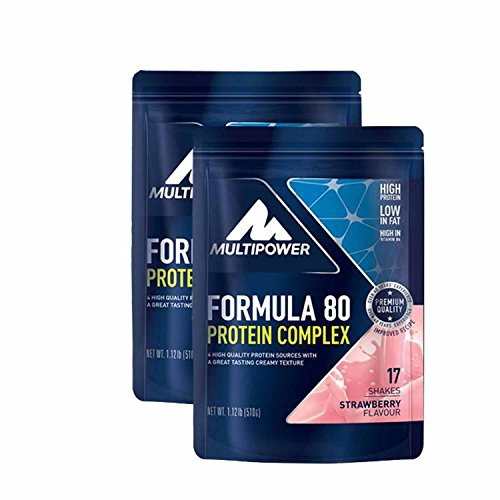 Multipower Muscle Protein Formula 80 Evolution ( 2 x 510g = 1020g), Erdbeere