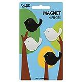 ファンキーランド マグネットセット 4個入り バード・ブラック&ホワイト 464069