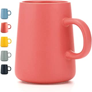 JYYT Smooth Frosted Ceramic Cup, Coffee Mugs, Tea Cup, for Office and Home, Funny Gift,Maximum Capacity 13.5oz