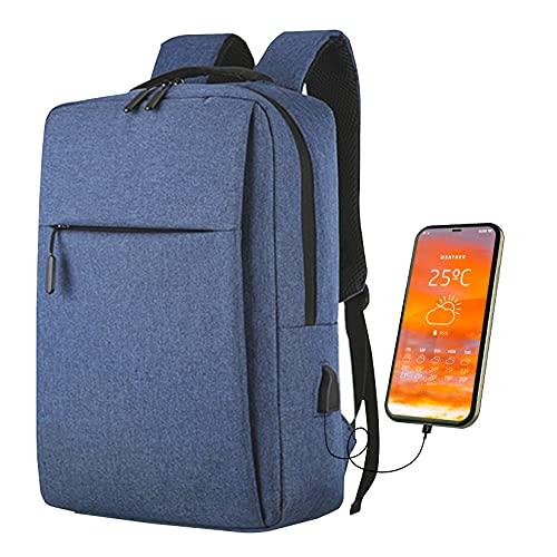 Vazma Mochila Antirrobo Compatible con Macbook Pro/Air. Mochila para Laptop con Salida y Cable de Carga USB. Mochila para Hombre y...