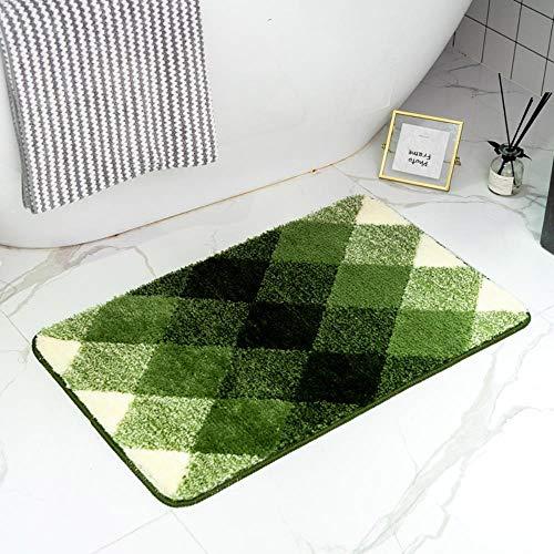FRGTHYJ Gradient huis vloermat tapijt thuis toilet badkamer antislip mat huisdeur absorberende voet pad, olijfgroen, 50 * 80cm
