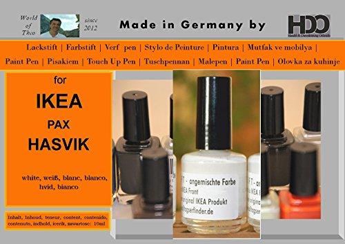 Farbstift Lackstift Touch-Up-Pen for IKEA Pax Hasvik White