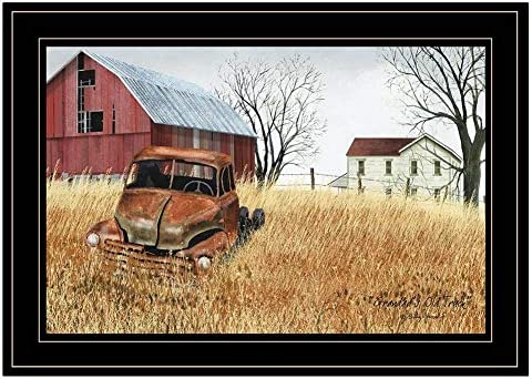 Trendy Decor4U Granddads Old Truck Wall Billy by Omaha Mall Printed Jacobs Ranking TOP15