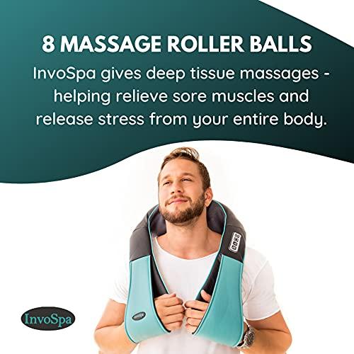Invospa Heated Shiatsu Massager for Neck, Back and Shoulders