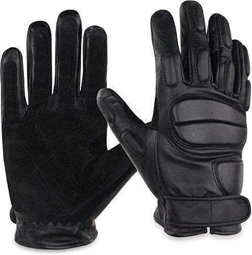 normani Leder-Handschuhe aus Rindsleder mit Kevlarfutter und Protektoren - Schnitthemmend, hohe Schlagkraft Größe XXL
