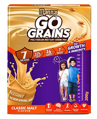 Manna Go Grains | 200g | Classic Malt | Health and...