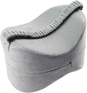 Prettyia Knee Pillow for Pregnancy, Hip and Leg Fatigue Relief - Memory Foam Wedge Contour Orthopedic Knee Pillow - Gray
