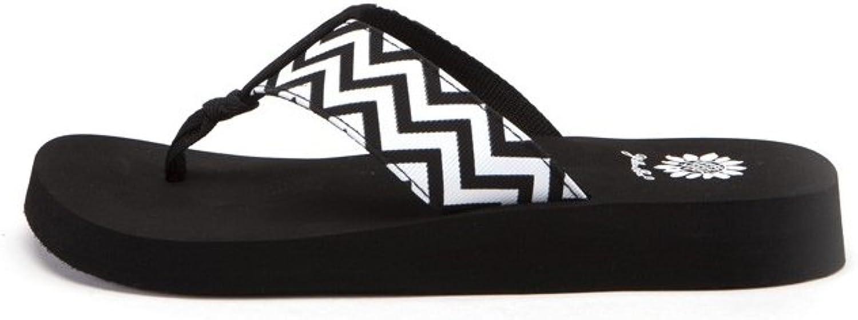 Gelb Box damen Yulisa Fashion Flip Flop Sandals,schwarz,7.5