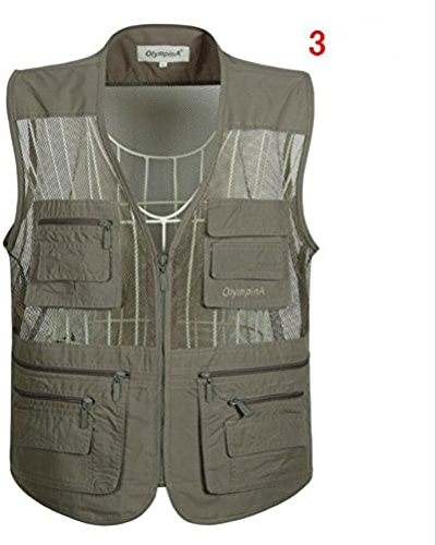 MJJ  Multi veste sac. pêche vest. vest. occasionnels à capuche gilet le directeur. le gilet taille plus été