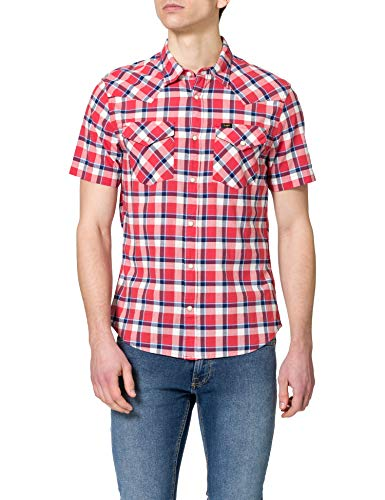 Lee Western Camisa, Aurora Red, XL para Hombre