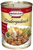 DREISTERN Rindergulasch 540g I leckeres Gulasch