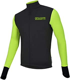 DI'NAM'IK EVO PRO Men's Power Cycling and Running Windproof Thermal Fleece Softshell Water Resistant Jacket