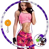 Awroutdoor Hula Hoop Fitness Desmontable de Acero Inoxidable, Professional Hula Hoop Adultos Fitness...