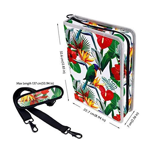 ASCZFAS bolsa de lápiz Creative Floral 160 Slot Oxford Cloth School Lápices Estuche Lápiz de gran capacidad para lápices de colores Caja de lápices de gel Suministros de arte Flor pájaro: Amazon.es: