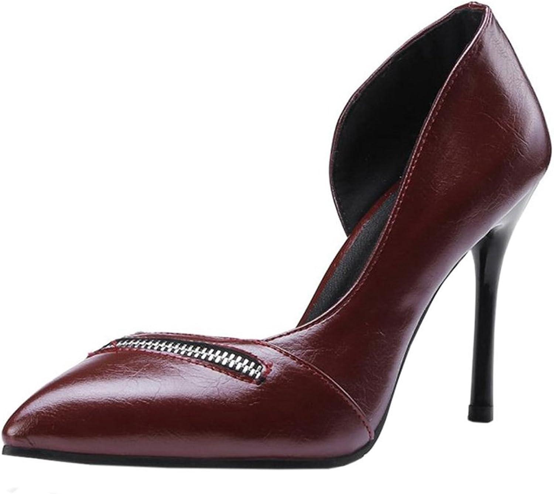 TAOFFEN Women Elegant D'Orsay shoes Stiletto