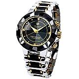 [ジェ・ハリソン] 腕時計 JH-024MBB 正規輸入品 ブラック