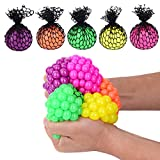 Totem World 24 Colorful 1-Inch Mini Mesh Stress Balls - Squishy Fidget Toy Perfect for Kids and Adults Materials for Lasting Use - Squeeze Balls for Anxiety and Concentration - Great Party Favors