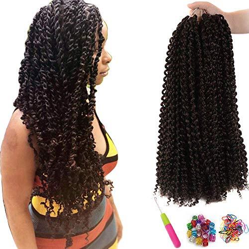 7 Packungen Passion Twist Hair 18 Zoll Crochet Braids für Passion Twist Crochet Hair Wasser Wave ShowJarlly Passion Twist Braiding Haarverlängerungen (18inch(46cm), 4#)