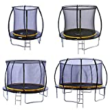 Kanga 6ft Premium Trampoline with Safety Enclosure, Net, Ladder and Anchor Kit (6ft)