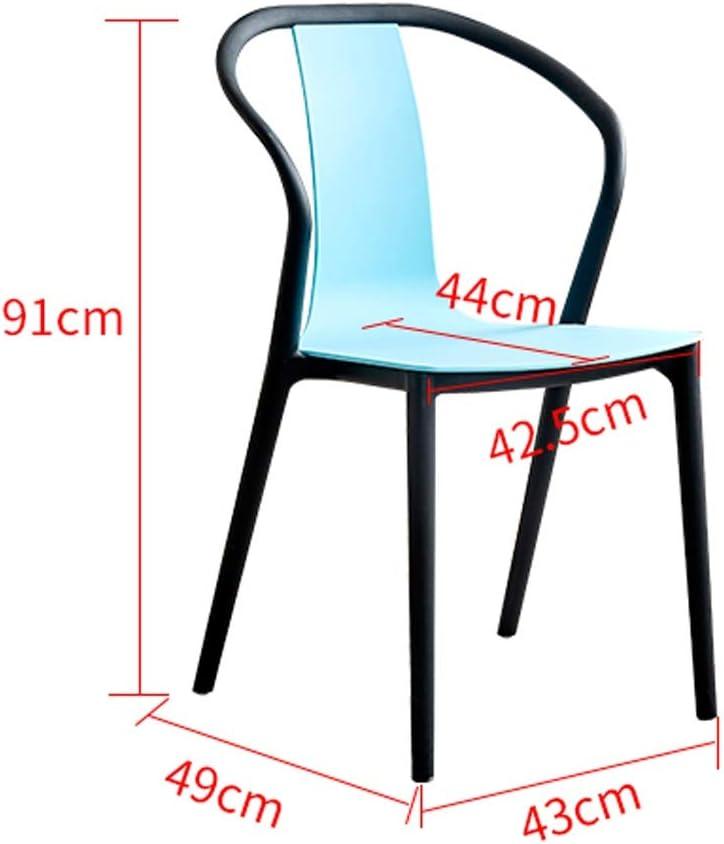 LF Chaise de Salle, Chaise de Bureau Simple, créative Dossier, Chaise Loisirs, Maison Adulte Chaise de Salle Simple (Color : Stripe Color) Black