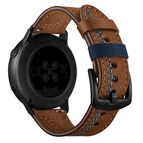 LAYERFURUN Uhrenarmband-Bügel Ersatz-Uhr 22mm for Huawei Uhr GT2e / GT2 46mm Zigzag Leder Stap (Schwarz) (Color : Brown)