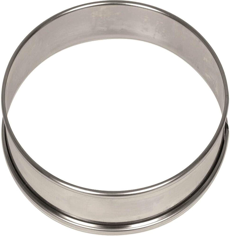 Matfer Bourgeat 371708 4  x 3 4  Small Flan Ring - 6   PK