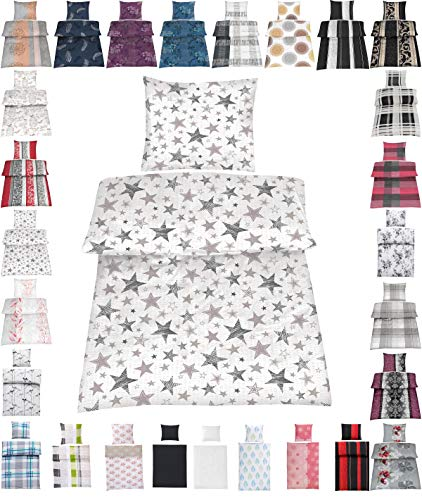 Seersucker Bettwäsche Baumwolle oder Microfaser 135x200 cm, 80x80 cm Bügelfrei Luna 100% Bauwolle