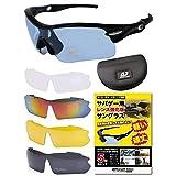 Airsoft Joker 【レンズ超強化型 サングラス】 サバゲー シューティンググラス スポーツサングラス レンズ5枚セット 偏光レンズもあり