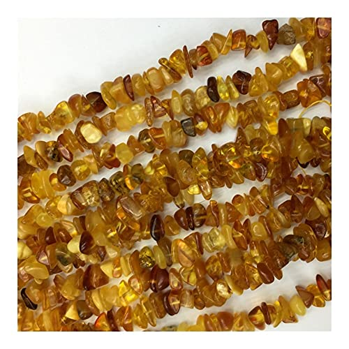 DFUF Hermoso Regalo Rusia ámbar Bricolaje Collar Pulseras Pendientes Piedras Gemstone Natural Cristal Nugget Chip Perras Sueltas para la fabricación de Joyas