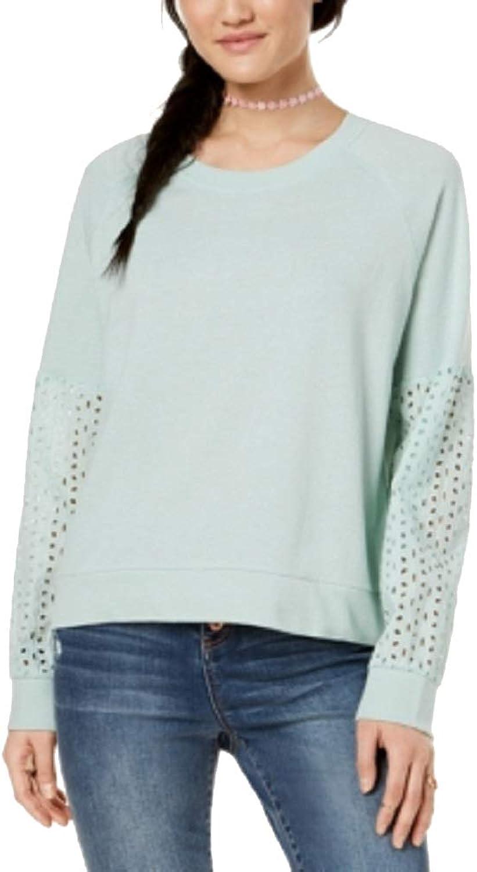 Hippie pink Juniors' EyeletContrast Sweatshirt
