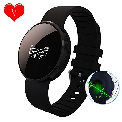 Fitness Tracker, Bluetooth Braccialetto Smart Wristband impermeabile con monitor a frequenza cardiaca, monitor Sleeping, pedometro sportivo Smart Watch per Android e i telefoni intelligenti iOS