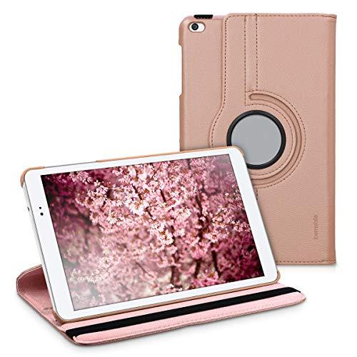 kwmobile Schutzhülle kompatibel mit Huawei MediaPad T1 10 - Hülle 360° Tablet Cover Hülle Rosegold