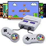 Retro Game Console with Built in Games, Compatible with Super Nintendo Classic Edition, Super Retro Console Built-in 821 Super NES HDMI Output Games with 2 Controllers for Super Nintendo Console Mini