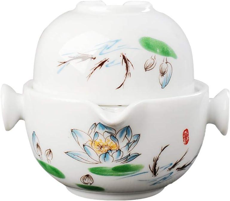 Portable Handmade Ceramic Kung Fu (Oil p Set—Lotus Max 49% OFF Cash special price Tea