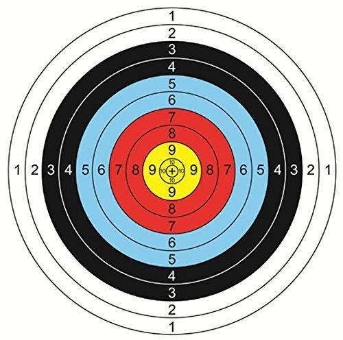 CZ-XING 50x Papier SMK Zielscheiben für Luftpistole Air Gewehr Airsoft Jagd Zielscheiben Luftgewehr Drei Farben 40* 40cm
