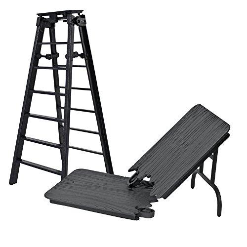 Black Table & Ladder Set for Wrestling Action Figures
