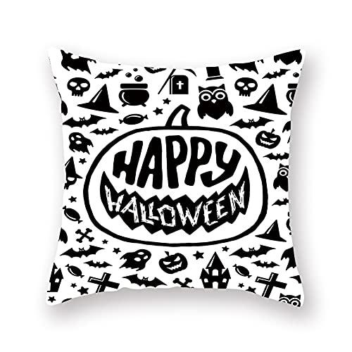 Cxcdxd Decoraciones de Almohadas de Halloween Almohadas para Exteriores para Muebles de Patio 45cm × 45cm (Se Incluyen Rellenos)