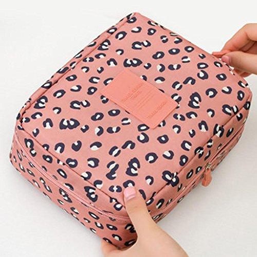 HUIJU Pochette de Maquillage Sac cosmétique Portable Sac de Rangement de Grande capacité Sac cosmétique Sac de Lavage de Voyage étanche Coréen Trompet