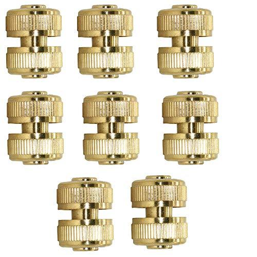 Tuinslang Snelkoppeling 1/2 3/4 inch Tuinslang Reparatie Sluit volledig koperen tuinslangadapter aan,8pcs,3/4