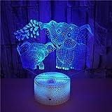 FREEZG lampara quitamiedos infantil Animal orejas grandes niño Lámpara de escritorio de mesa táctil que cambia de 7 colores para dormitorio de niños con regalos de cumpleaños para bebés