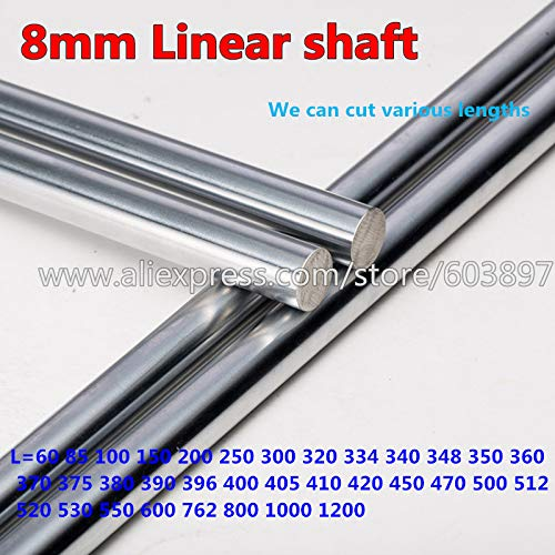 Length: 1100 Ochoos 4pcs 3D Printer Parts CNC Diameter 8mm Chrome Plated 1100//1150//1200mm Steel Smooth Shaft Rod Optical Axis Multiple Length