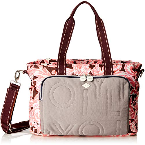 Oilily Damen Charm Diaperbag Mhz Rucksackhandtasche, Pink (Rose), 15x26x38 cm