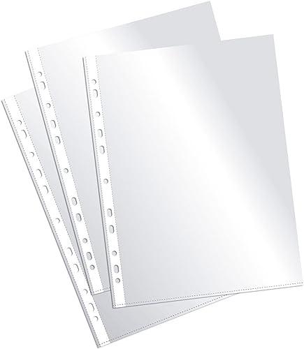Plus Office EH303A-8/FC - Fundas multitaladro folio-cristal, 90 micras, 100 unidades, transparente