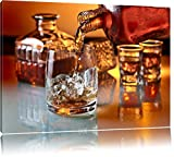 Pixxprint Edler Whiskey Format: 60x40 auf Leinwand, XXL