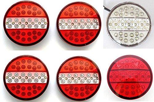 24/7Auto 6 phares à LED Hamburger universels arrière ampoules 24 V Camion Remorque Châssis Van