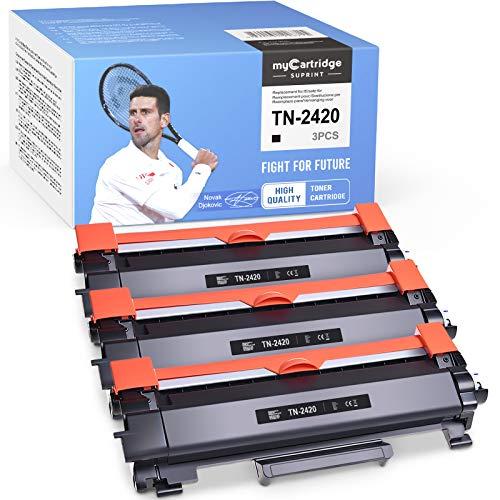 myCartridge SUPRINT TN-2420 TN-2410 - Toner 3 di ricambio per Brother TN2420 TN2410 per Brother HL-L2310D HL-L2350DN HL-L2370DN HL-L2375DW MFC-L2710DN MFC-L2730DW L2755DW 0DW DCP-L. 2510D.